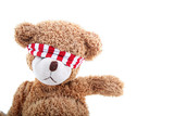blindfold teddy bear