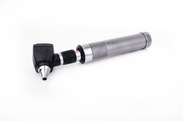Otoscope isolated studio shot