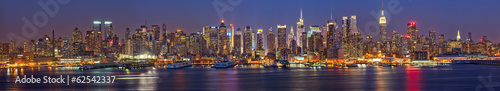 Foto op Plexiglas New York City Manhattan at night