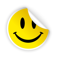 vector smile bent sticker