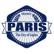 Paris capital of France label or stamp