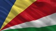 Flag of the Seychelles waving in the wind - seamless loop