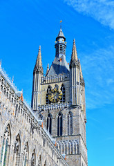 Ypres Cloth Hall in bright spring day