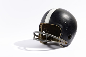 Old football helmet
