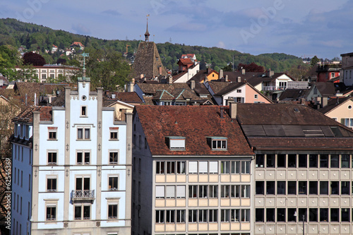 Zurich cityscape with old buildings , Switzerland.