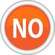 Круглый векторный знак с надписью NO