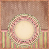 Vintage background. Old paper greeting card