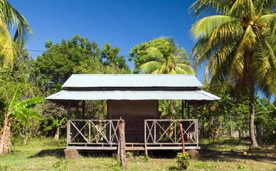 architecture restaurant sheet metal roof Corn Island Nicaragua