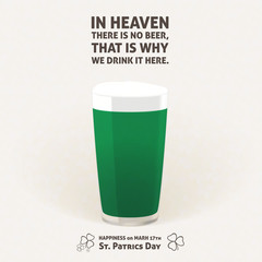 NO BEER in HEAVEN, DRINK it HERE - ilustration phrase