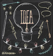 Hand Drawn Chalk Idea Elements Vector Set