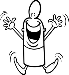 excited guy coloring page