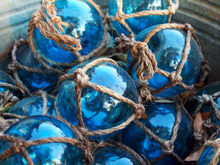Blue Glass Fishing Floats
