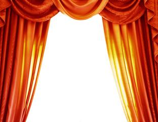 Luxury orange curtains