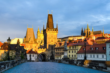 Charles Bridge in morning light, Prague