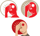 Icon of a headache or migraine