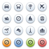 Internet icons on color buttons. Set 3.