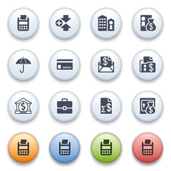 Internet icons on color buttons. Set 4.