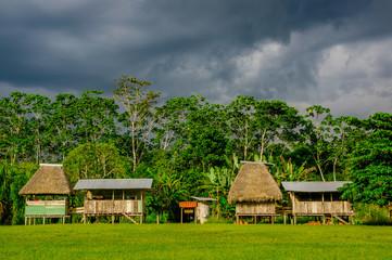 Village in Yasuni national park , Ecuador