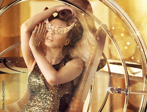 Conceptual photo of glamorous woman