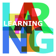 Learning - abstract color letters