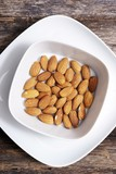 Tasty Almond in White Bowl