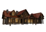 3D Log Home Illustration