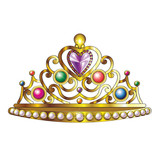 Golden Crown with Jewels and Pearls