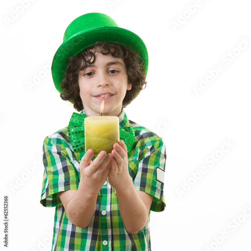 Child during St. Patrick Celebrations