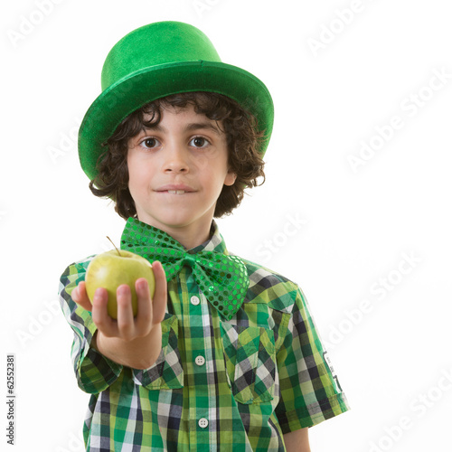 Child during Saint Patrick Celebrations