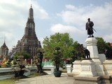 history monument and Pagoda in Wat A-run,bangkok,thailand