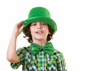 Hispanic Child Having Fun during St. Patrick's Day