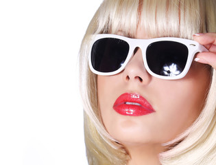 Fashion Blonde with Sunglasses
