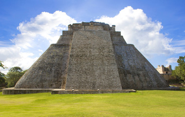 Pyramid of the Magician. Maya complex of Uxmal. Mexico