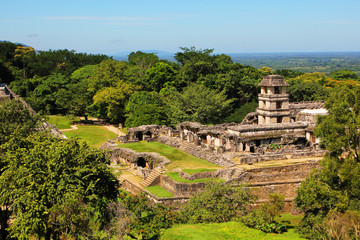 Palenque, Chiapas, Mexico. The Palace Observation Tower