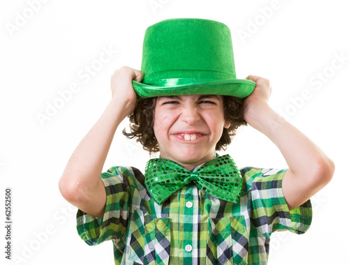 Hispanic Child Having Fun during St. Patrick's Day