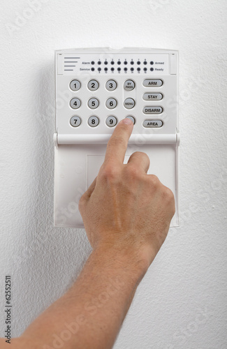Security System Keypad And Hand
