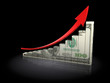 risisng dollar chart