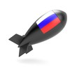 Bomb with Russian flag