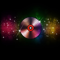 Music Vinyl Disco Background