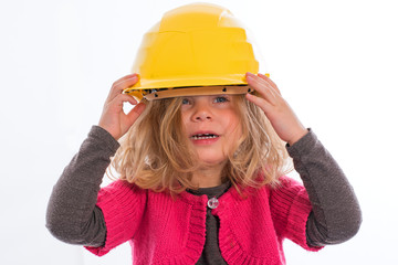 girl with hardhat