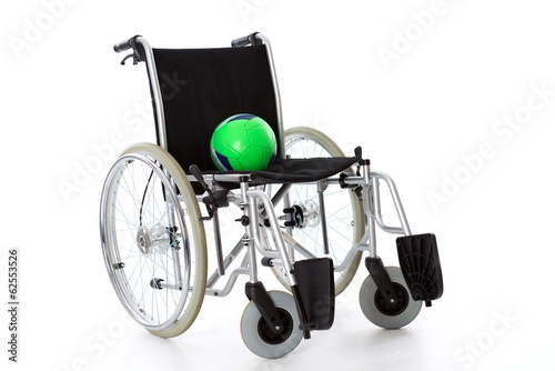 wheelchair with ball