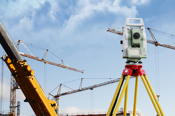 surveying measuring instrument, used in construction industry