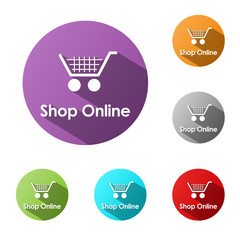 """SHOP ONLINE"" Web Buttons (add to cart order buy now my basket)"