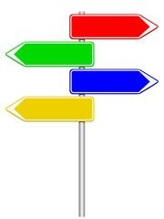 Panneaux 4 directions 4 couleurs