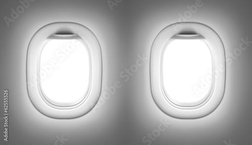 Photo sur Plexiglas Avion à Moteur Airplane or jet interior with windows