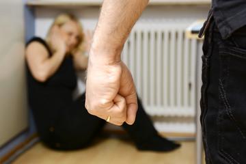 Häusliche Gewalt gegen Frau