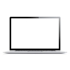 Realistic and very detailed vector laptop isolated on white