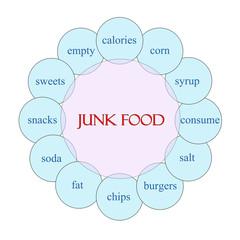Junk Food Circular Word Concept