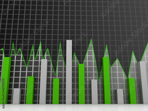 Stock Market chart. Business graph