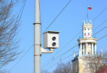 Camera of fixing of violation of traffic regulations